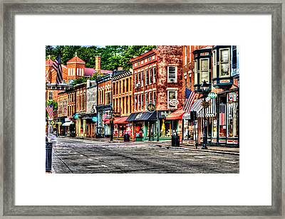 Galena Main Street Early Summer Morning Framed Print