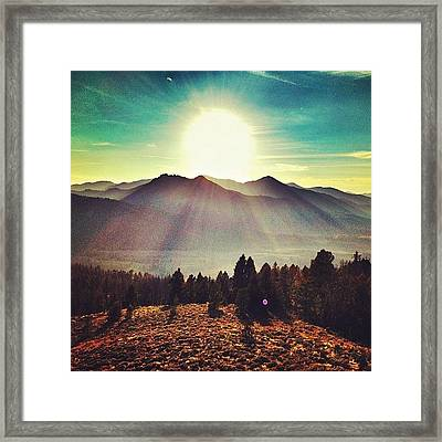#galena #sunset #boom Framed Print by Cody Haskell