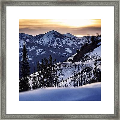 #galena #sunsets #idaho #mountains Framed Print by Cody Haskell