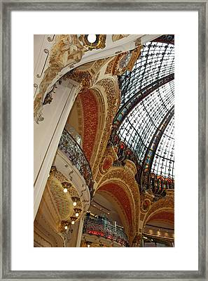Galeries Lafayette Framed Print by Kathy Yates