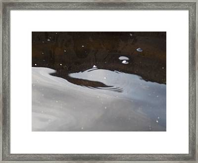 Water In Space  Framed Print
