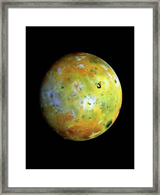 Galileo Image Of Jupiter's Moon Io Framed Print by Nasa/science Photo Library