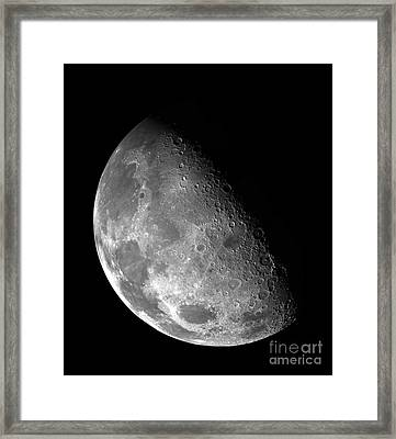 The Moon Imaged By Galileo Framed Print