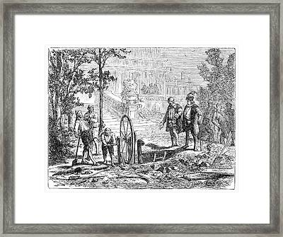 Galileo On Hydraulics Framed Print by Science Photo Library