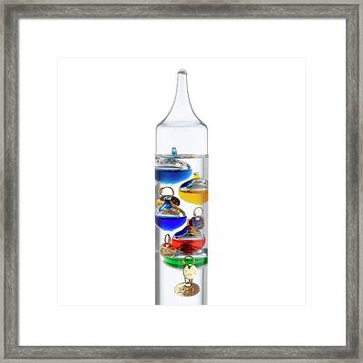 Galileo Thermometer Framed Print