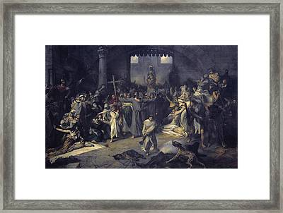 Gallait, Louis 1810-1887. The Plague Framed Print by Everett