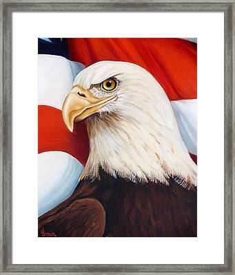 Gallantly Streaming-4 Framed Print by Jean R Brown - J Brown