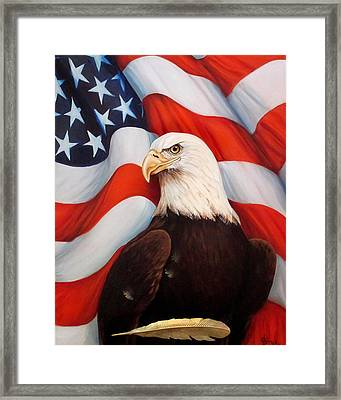 Gallantly Streaming Framed Print by Jean R Brown - J Brown