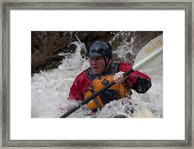 Gallatin Kayaker  Framed Print by Jason Standiford