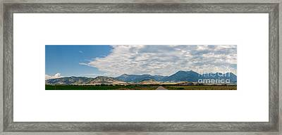 Framed Print featuring the photograph Gallatin Range Panoramic by Charles Kozierok