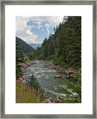 Gallatin River Ripples Framed Print