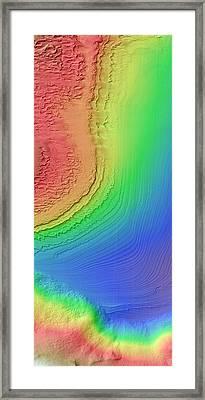 Galle Crater Framed Print