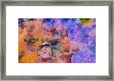 Galleon Through The Storm Framed Print