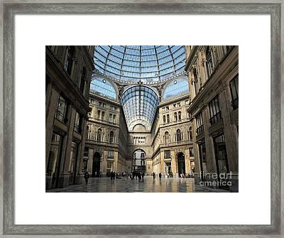 Galleria Umberto I Framed Print by Kiril Stanchev