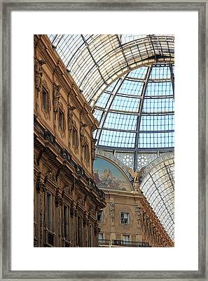 Galleria Vittorio Emanuele Framed Print by Valentino Visentini