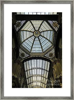 Gallery Glass Roof Of The City Hall Building Framed Print by Sami Sarkis