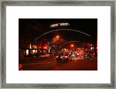 Gallery Hop In The Short North Framed Print by Laurel Talabere