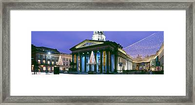 Gallery Of Modern Art With Christmas Framed Print by Panoramic Images