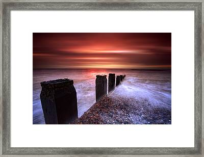 Galley Hill Sunrise Framed Print by Mark Leader