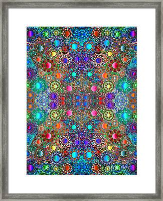 Gallimaufry Mirrored Version 3 Framed Print by Devin  Cogger