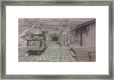 Framed Print featuring the drawing Gallitzin Tunnel by Thomasina Durkay