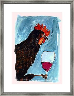 Gallo Con Vino Framed Print by Pj T