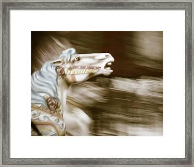 Gallop 4 Framed Print by Takeshi Okada