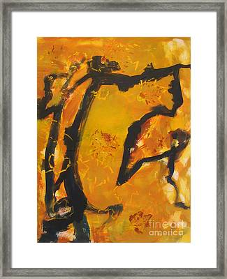 Gallop  In The Fall Framed Print