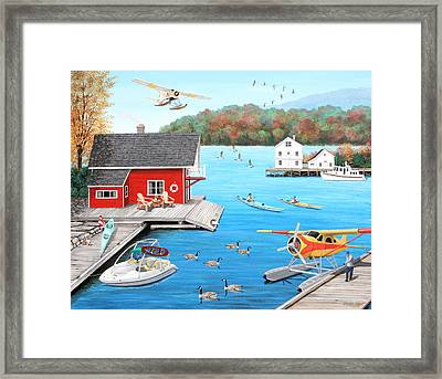 Galloping Goose Lake Framed Print