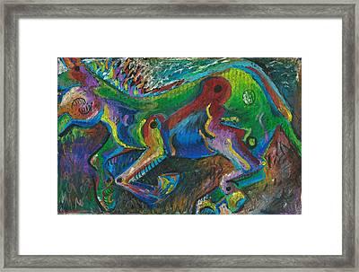 Galloping Mule Framed Print by Melinda Dare Benfield