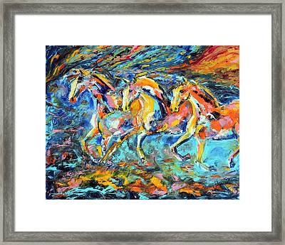Galloping Sunset Framed Print