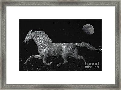 Galloping Through The Universe Framed Print by John Stephens