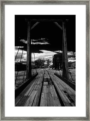 Framed Print featuring the photograph Gallows Gives Direction by David Bailey