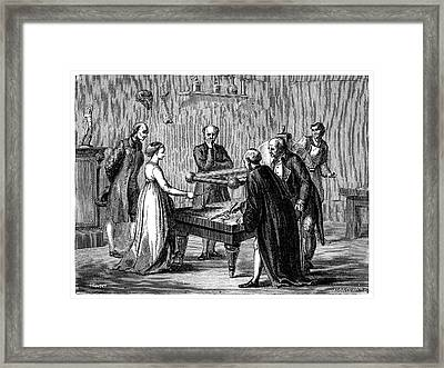 Galvani's Frog Legs Experiment Framed Print by Science Photo Library