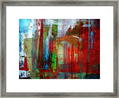 Galvanized Iron Sheets Framed Print by Aquira Kusume