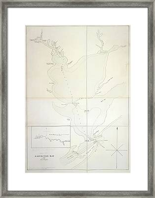 Galveston Bay Framed Print by British Library