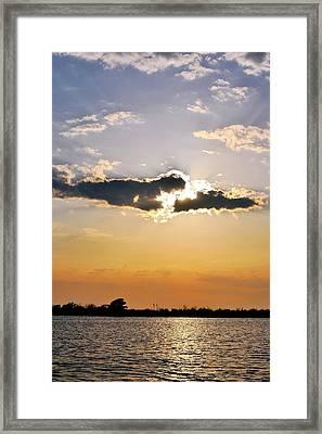 Galveston Bay Sunlight Framed Print by Kristina Deane