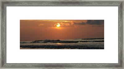 Galveston Beach - Texas Framed Print by Michael Davis
