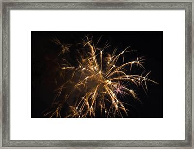 Galveston Fireworks Framed Print by Jason Brow