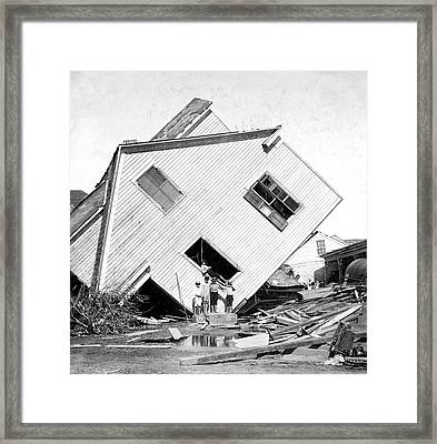 Galveston Hurricane Damage Framed Print by Library Of Congress
