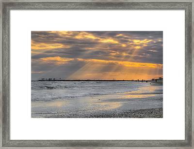 Galveston Rays Of Sunshine Framed Print by Ray Devlin