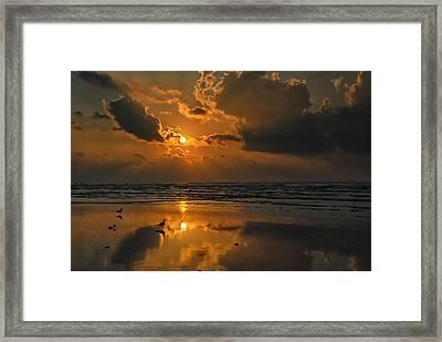 Galveston Sunrise Framed Print