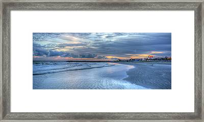 Galveston Sunset Framed Print
