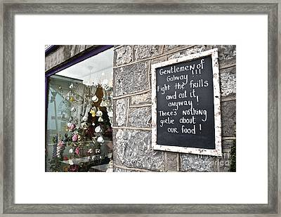 Galway Fight The Frills Framed Print