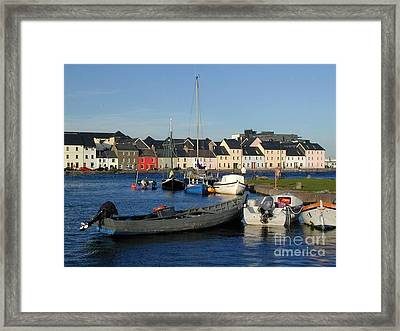 Galway Harbour At The Claddagh Framed Print