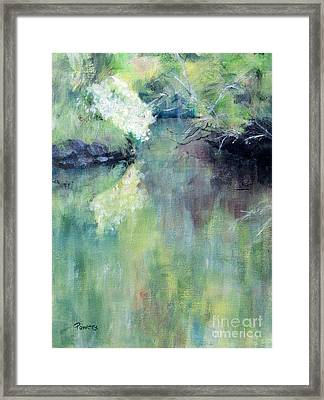 Gamble Creek Framed Print by Mary Lynne Powers