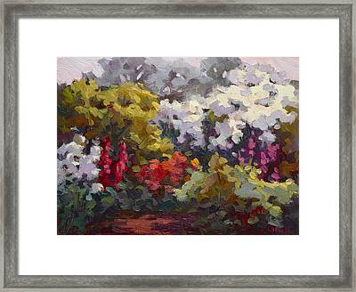 Gamble Gardens Framed Print by Carol Smith Myer
