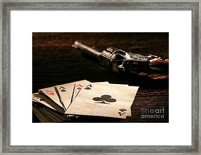 Gambler Danger  Framed Print by Olivier Le Queinec