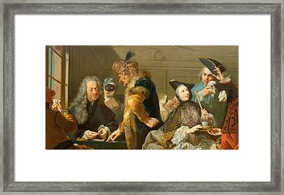 Gamblers In The Foyer Framed Print