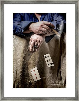 Gambling Man Framed Print